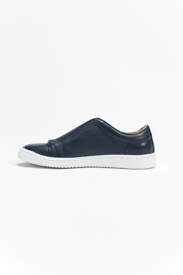 You Must Create Leather Elastic Slip On