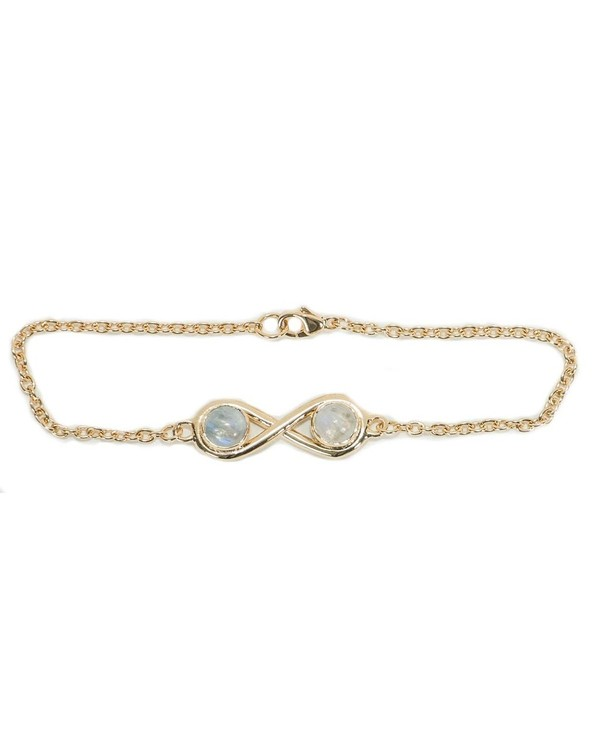 Pamela Love Gold Infinite Bracelet with Moonstone
