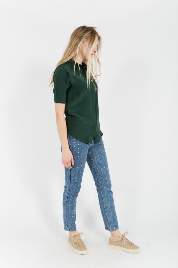 7115 by Szeki Short Sleeve Button Up