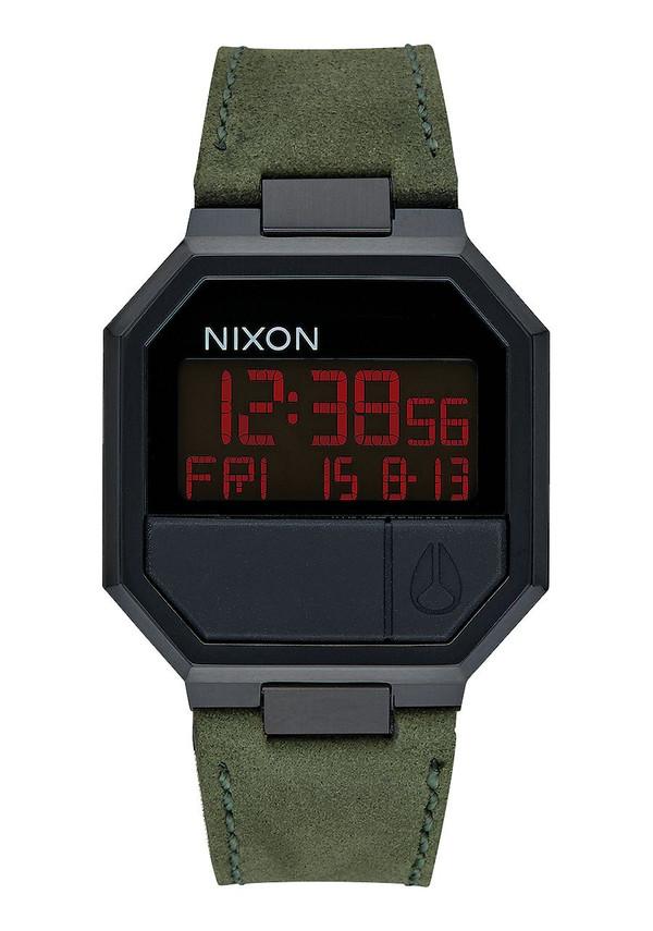 Nixon Re-Run Leather Black / Green