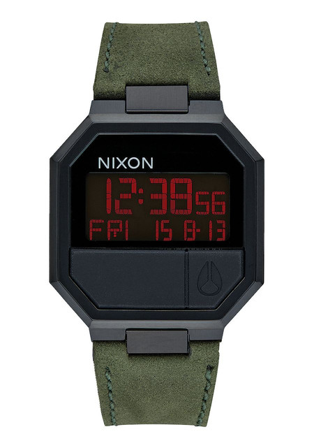 Nixon Re-Run Leather Black / Green