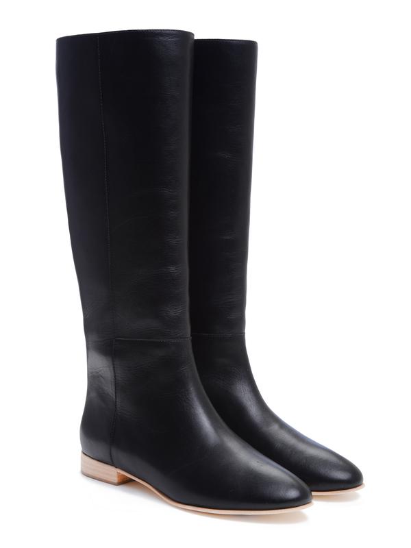 Marit Flat Boot - Black
