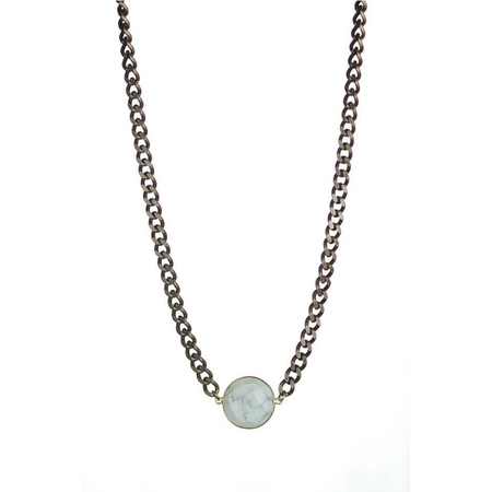 Lisbeth Mave Howlite Bezel Necklace