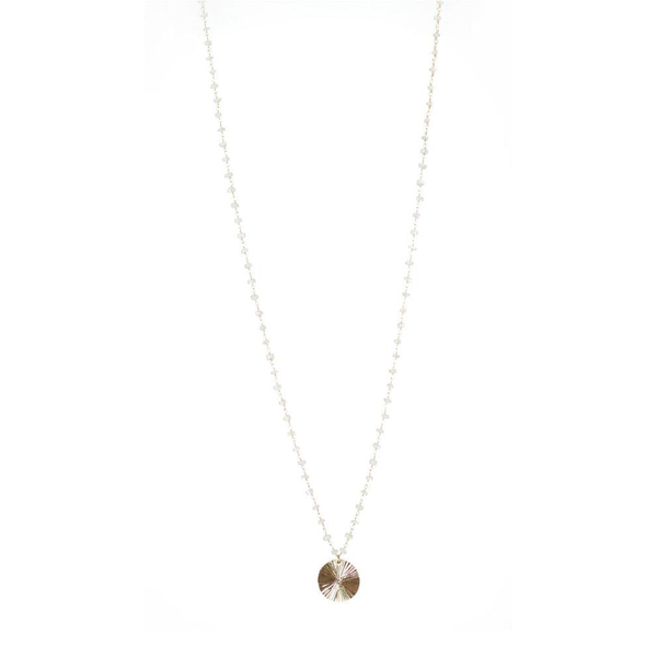 Lisbeth Beaded Moonstone Gold Necklace