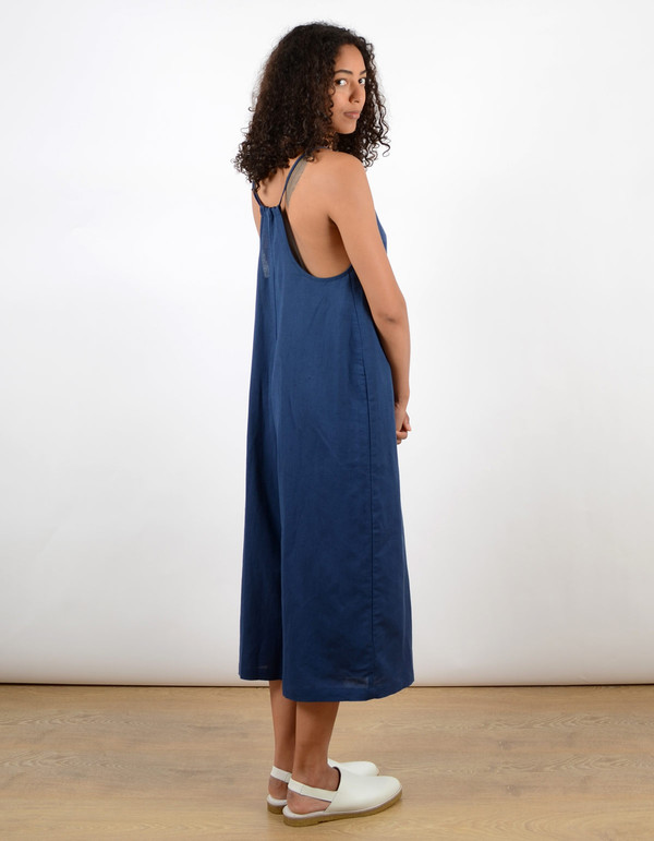 Ali Golden Wide-Leg Jumper Blue