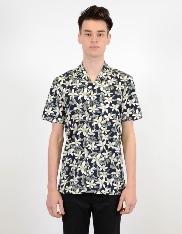 Barney Cools Miami SS Shirt Navy Floral