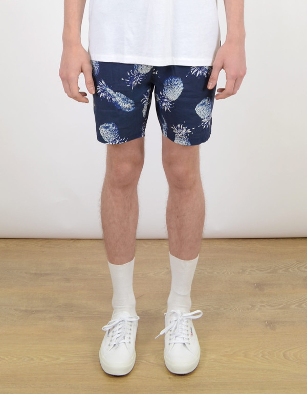 Men's Barney Cools Sunday 17'' Short Navy Pineapple