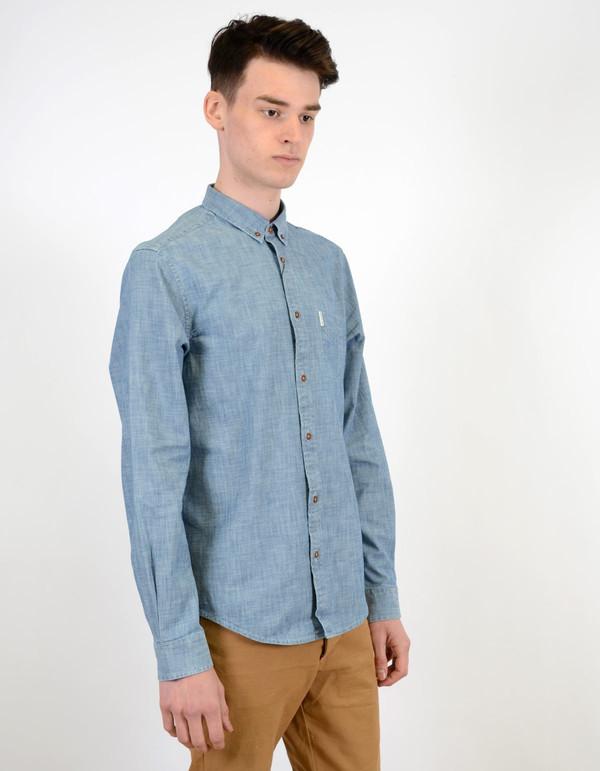 Ben Sherman Chambray Shirt Captain's Blue