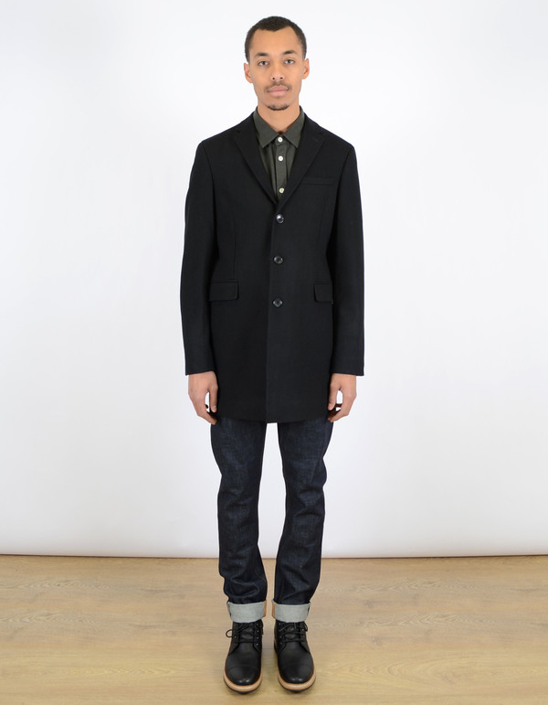 Ben Sherman Covert Coat Jet Black