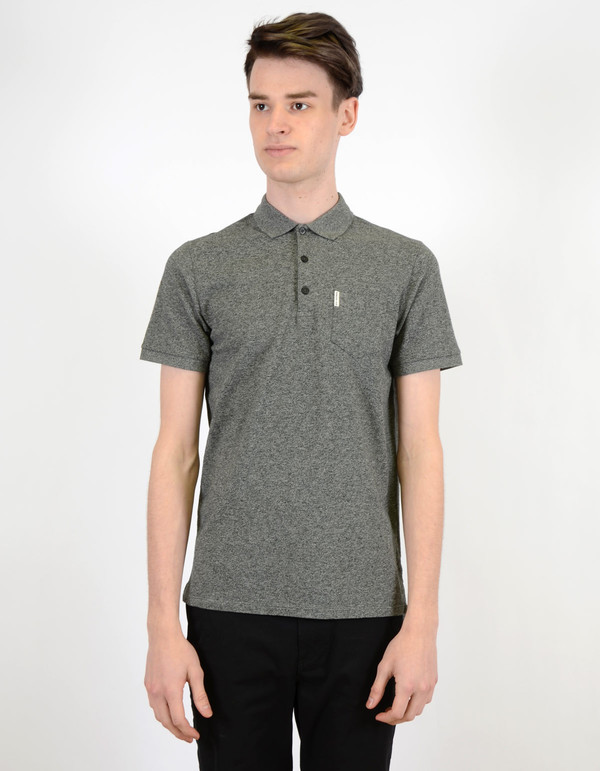 Ben Sherman Grindle Pocket Polo Jet Black