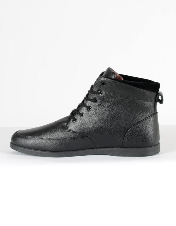 Clae Men's Hamilton Black Leather Black