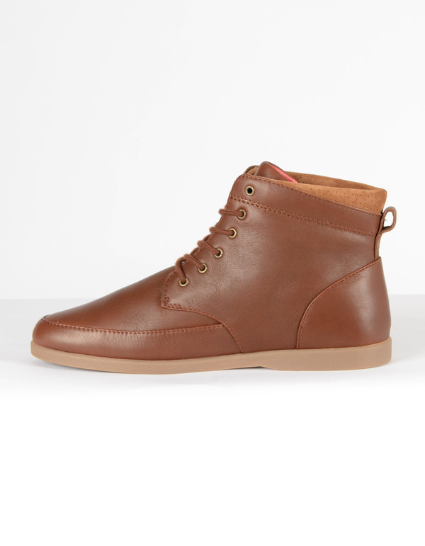 Clae Men's Hamilton Chestnut Tumbled Leather