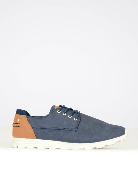 Clae Men's Morgan Sneaker Navy Synthetic Suede