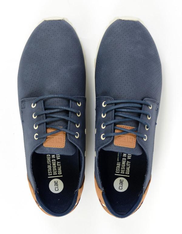 Clae Men's Morgan Sneaker Navy Synthetic Suede