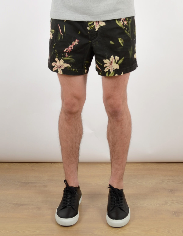 Men's Deus Botanical Boardshort Black Floral
