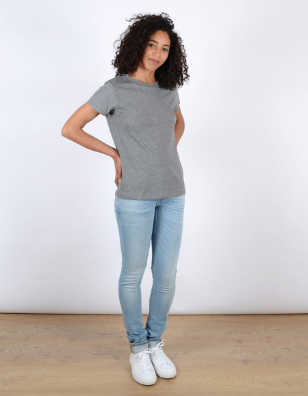 Filippa K Cotton Tee Grey Melange