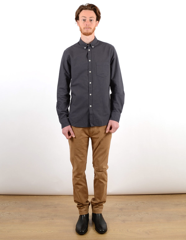 Filippa K Paul Oxford Shirt Night Blue Blue Dust