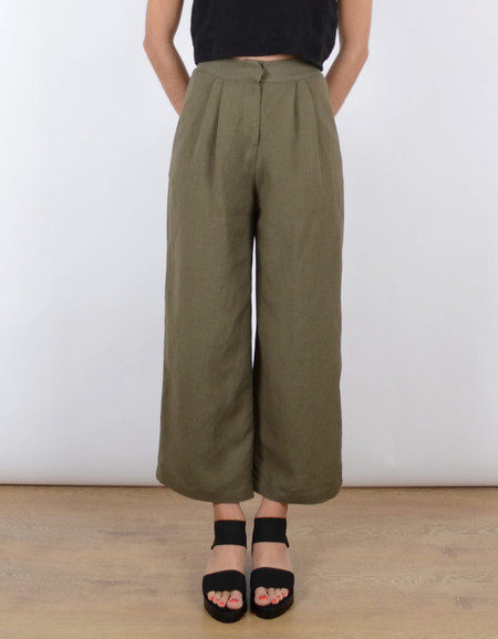 First Rite Wide Trouser Army