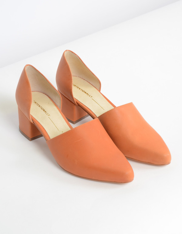Intentionally Blank Perf D'Orsay Heel Orange
