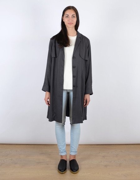 Just Female Trust Trenchcoat Anthracite