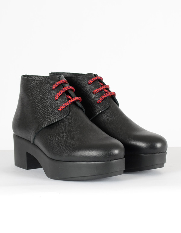 Miista Dora Lace-Up Boot Black