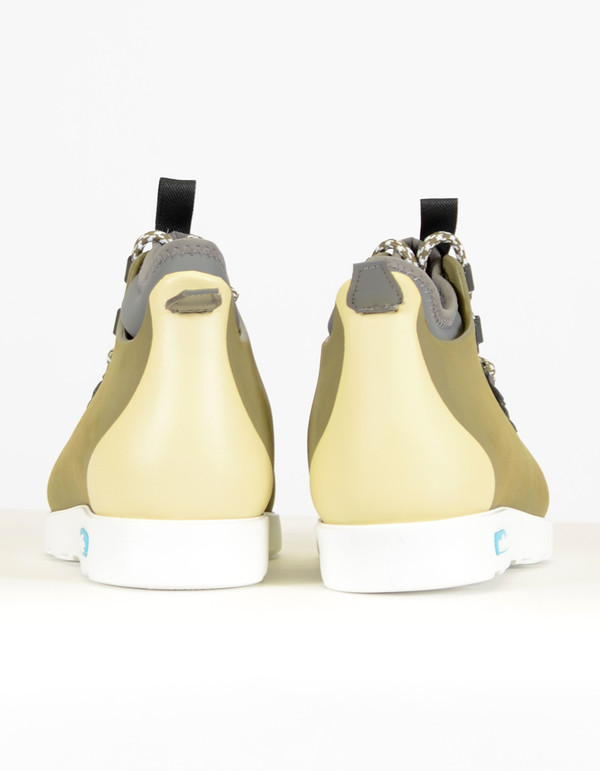 Men's Native Shoes Native Fitzsimmons Block Utility Green Bone White
