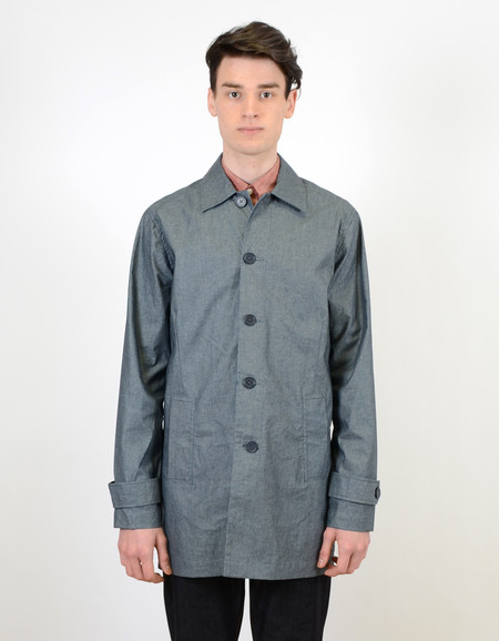 Men's Native Youth Coated Chambray Summer Mac Jacket Navy