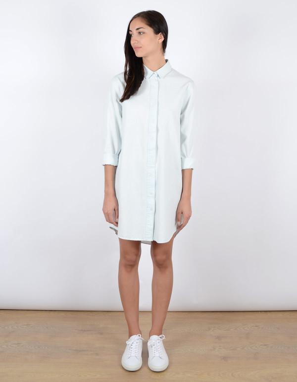 Neuw Morrissey Shirt Dress Ice Blue