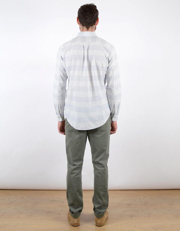 Men's No Nationality New Derek Stripe Shirt Blue White