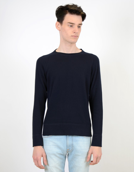 Men's Nudie Dag Sweater Navy