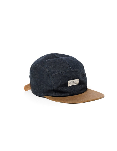 Nudie Monty Five Panel Organic Cap Denim Black