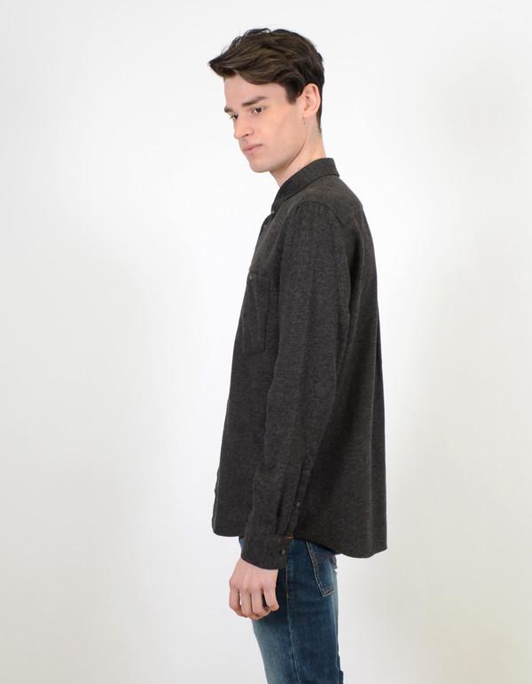Nudie Stanley Twill Mouline Shirt Grey