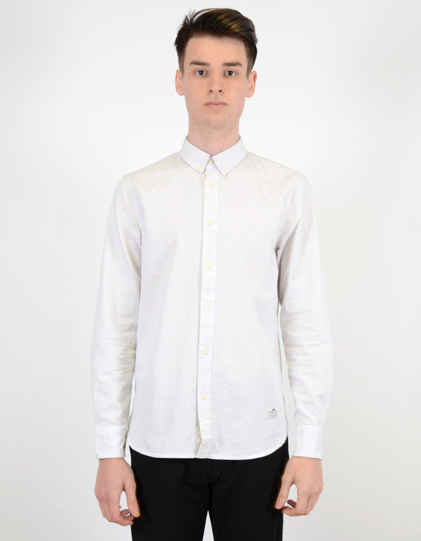 Men's Penfield Perry Woven Dot Shirt White
