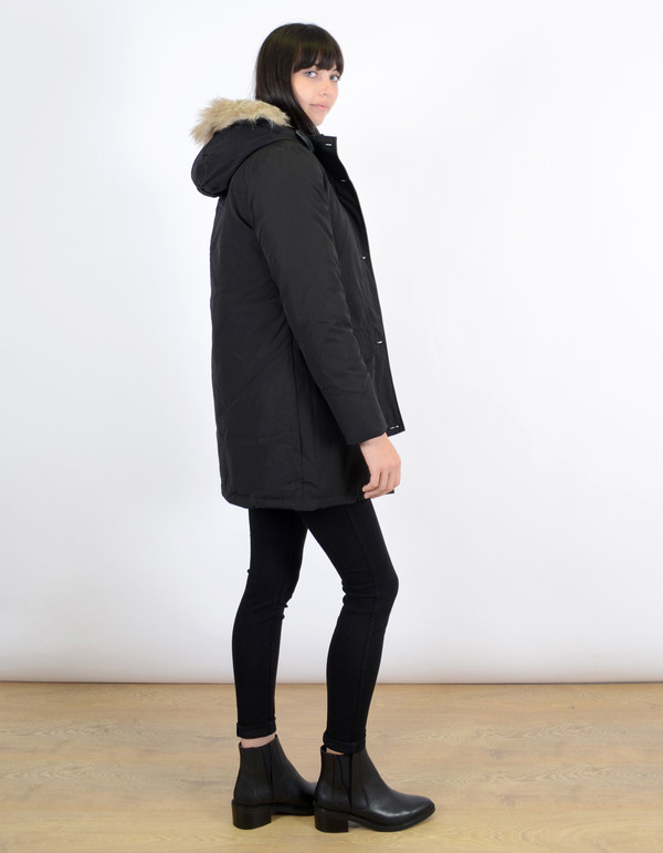 Penfield Women's Hoosac Fake Fur Down Parka Black