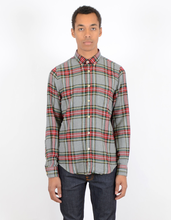 Men's Portuguese Flannel Vitoria Flannel Grey Green
