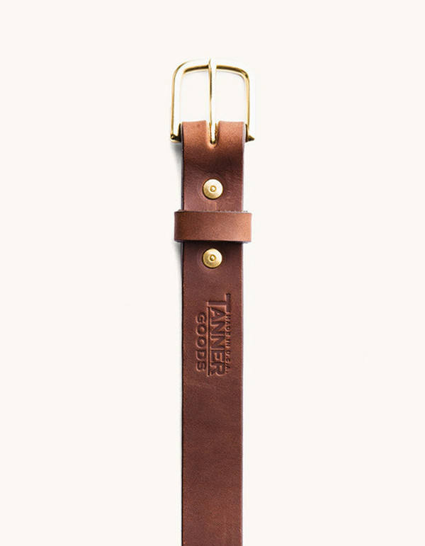Men's Tanner Goods Classic Belt Cognac Brass