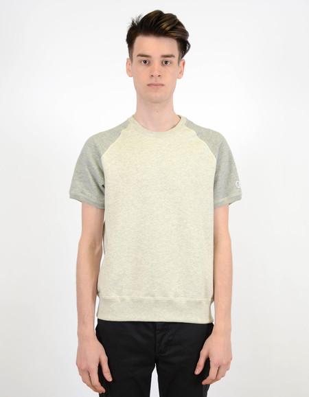 Todd Snyder x Champion Short Sleeve Sweatshirt Eggshell Mix