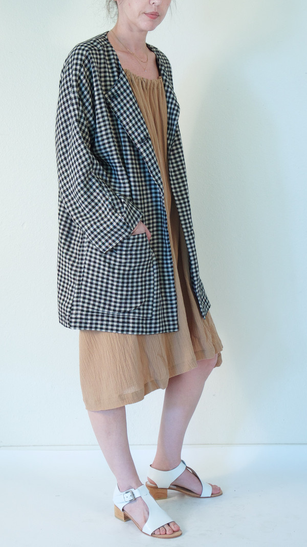 ARE Studio Dolman Jacket in Gingham