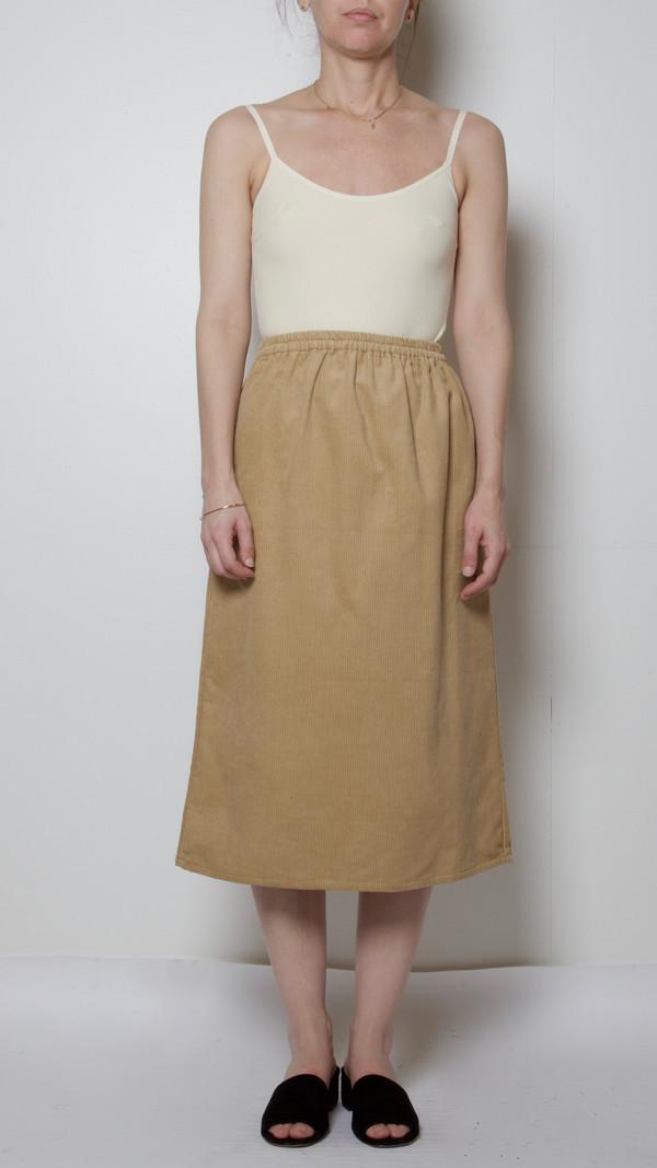 Baserange Corduroy Jogging Skirt in Nude
