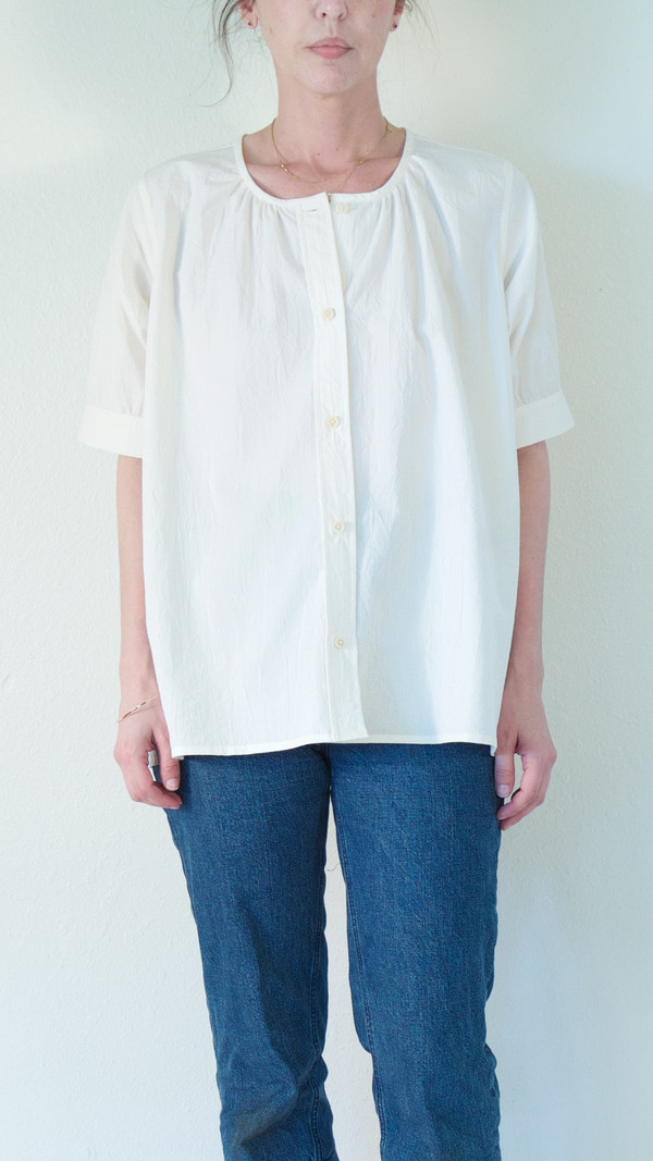 Caron Callahan Lizzy Shirt in Cream Broadcloth