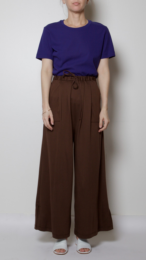 Maryam Nassir Zadeh Mara Pant in Chocolate Brown