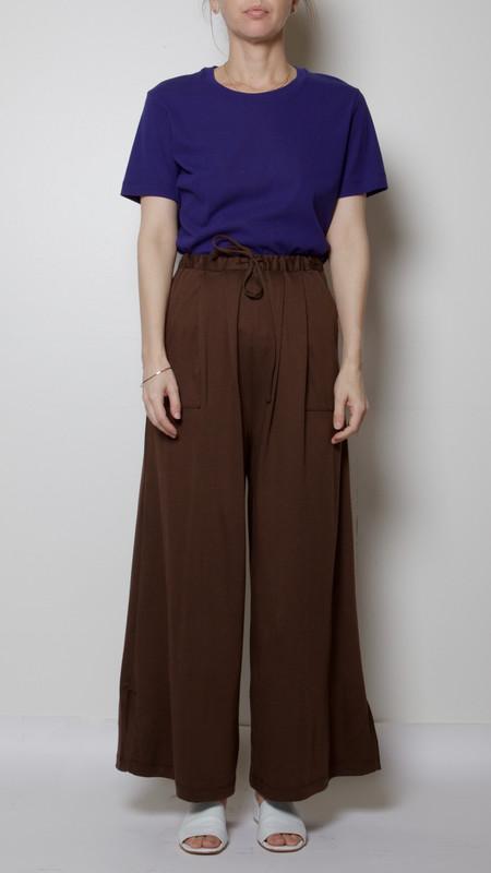 Maryam Nassir Zadeh Mara Pant in Chocolate Brown
