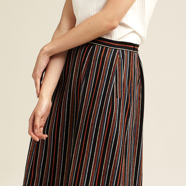 Nikki Chasin Chase Midi Skirt in Stripe