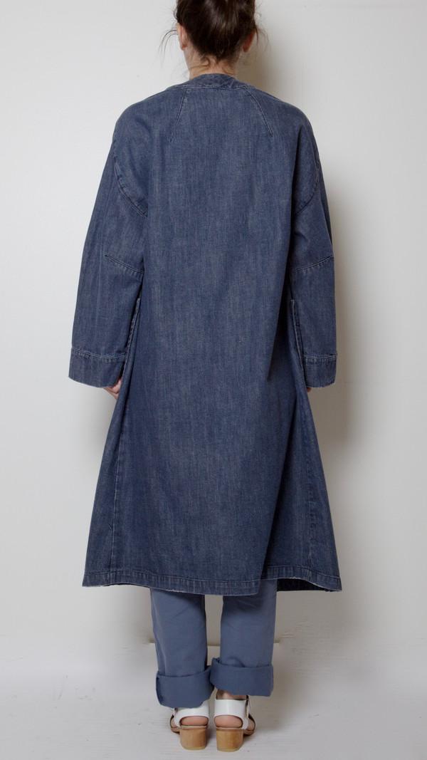 Rachel Comey Denim Glen Coat with Embroidery