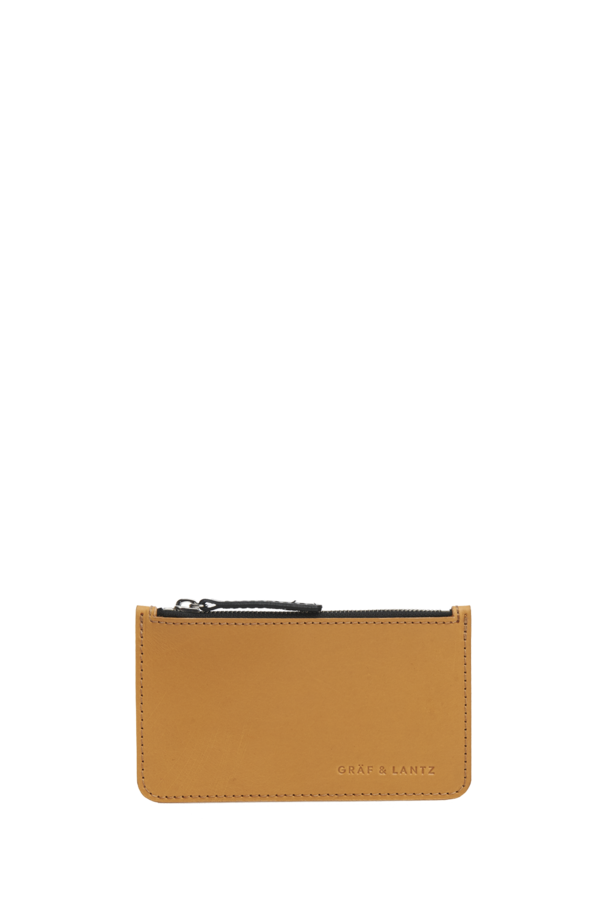 pouch petite leather tan
