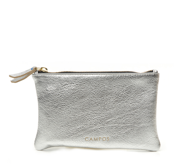 Campos Small Clutch In Silver