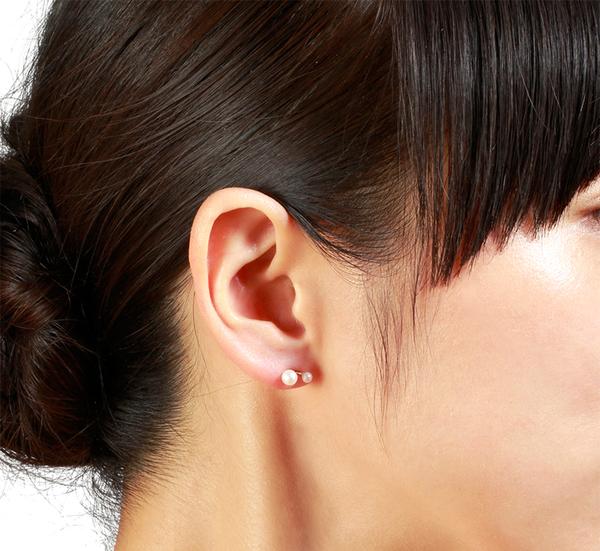 Satomi Kawakita 14K Twin Pearl Stud Earrings