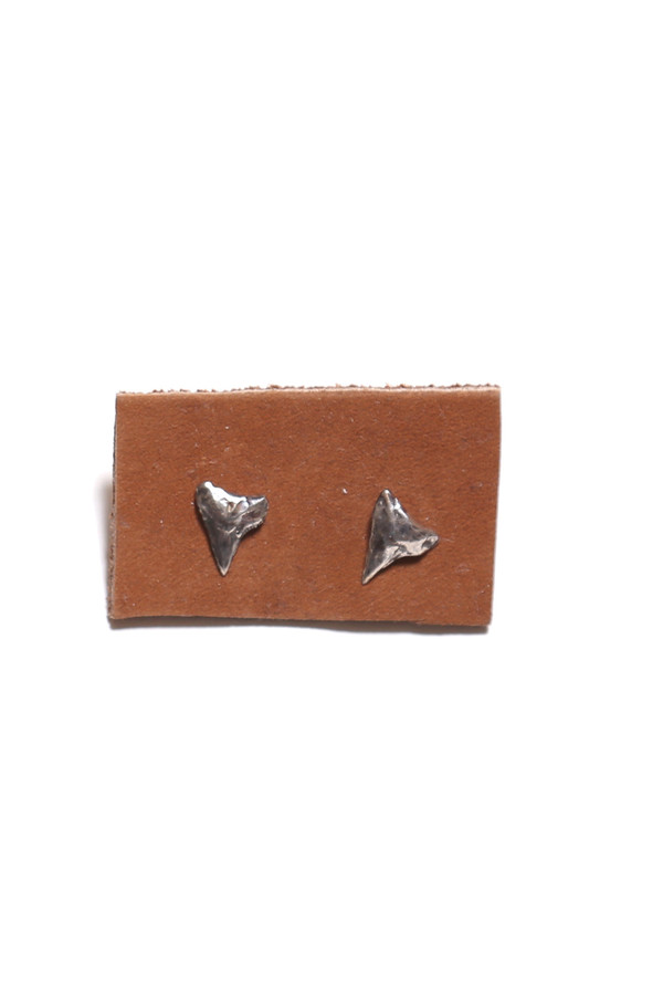Sarah Dunn Sterling Silver Shark Tooth Studs