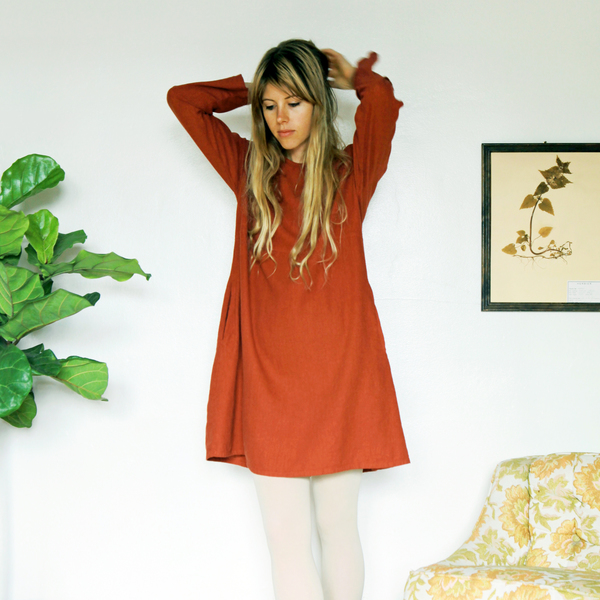 Unknown LS Basic Dress<br>Rustic Red