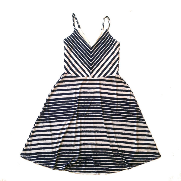 Cherry Bobin Stripes Dress Marine